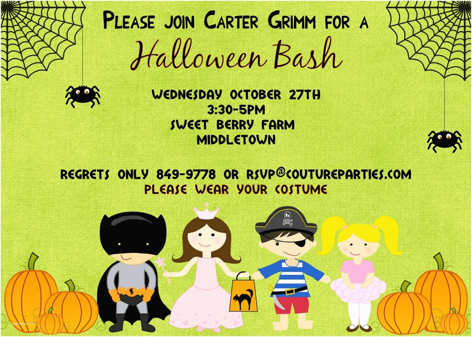 Kids Halloween Party Invitations Kids Halloween Invitations Printable – Festival Collections