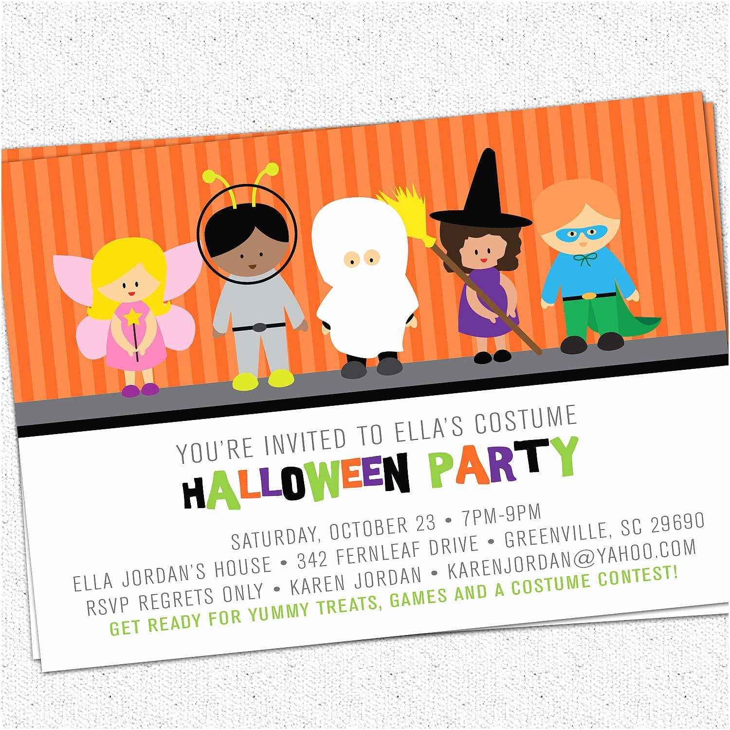 picture regarding Printable Halloween Birthday Invitations titled Little ones Halloween Bash Invites Printable Halloween