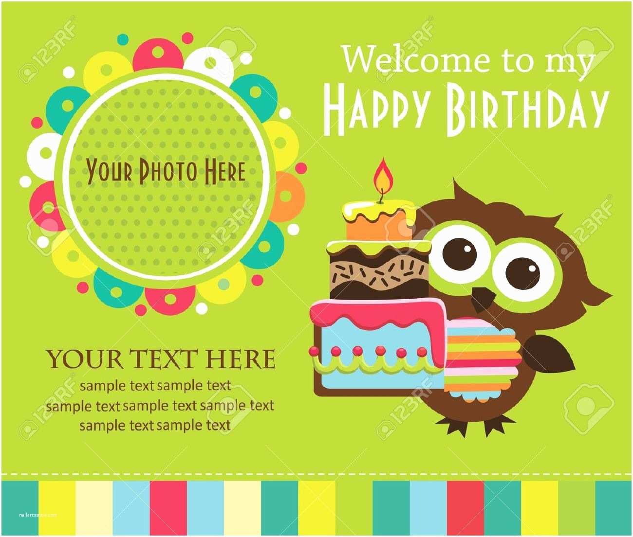 Kids Party Invitations Birthday Invitation Card Template For