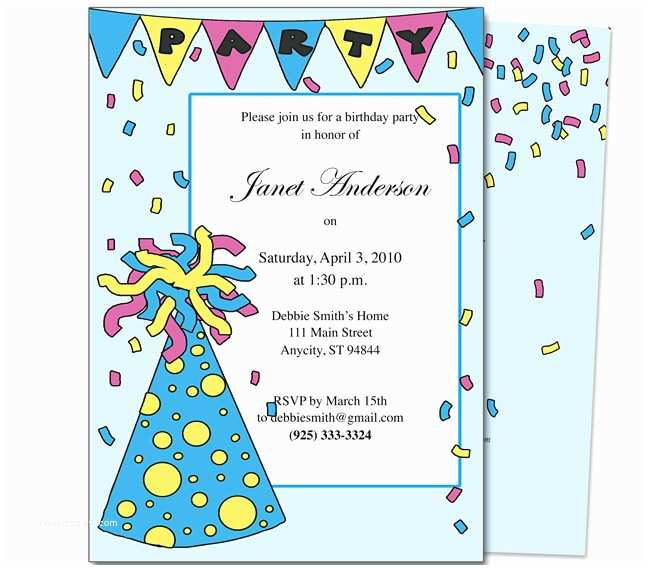 kids birthday party invitations template 2