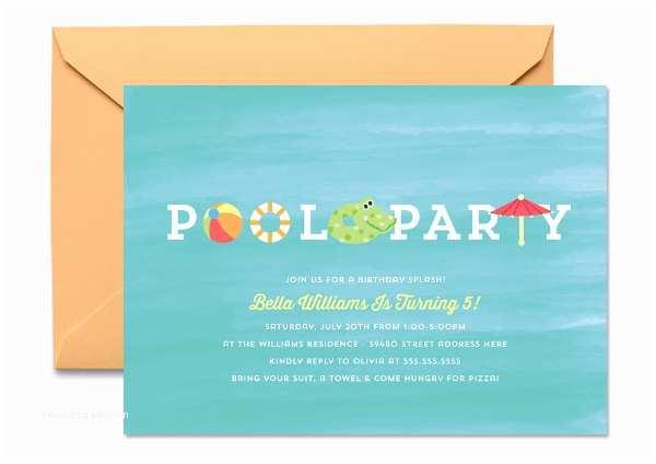 Kids Pool Party Invitation 19 Kids Party Invitation Templates Free Psd Ai Vector