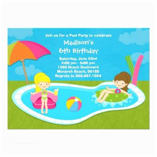 Kids Pool Party Invitation 900 Kids Pool Party Invitations Kids Pool Party