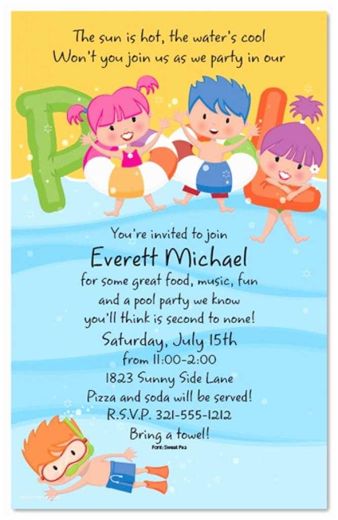 Kids Pool Party Invitation Free Printable Pool Party Invitations – Gangcraft