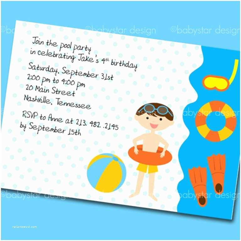 Kids Pool Party Invitation Kids Birthday Pool Party Invitations Masterly Tips to