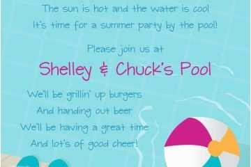 kids pool party invitation wording