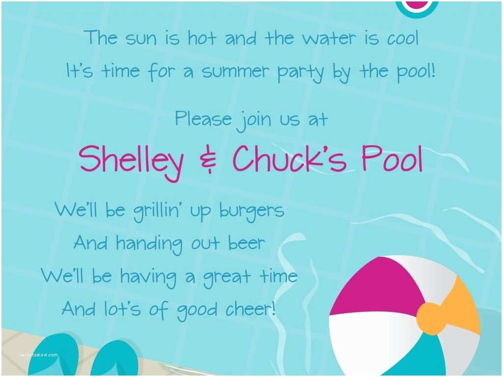 Kids Pool Party Invitation Kids Pool Party Invitation Wording Cobypic