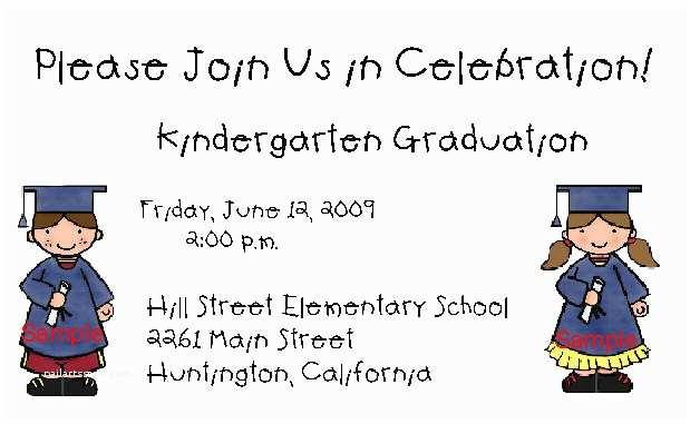 Kindergarten Graduation Invitations Kingergarten Graduation Invitations