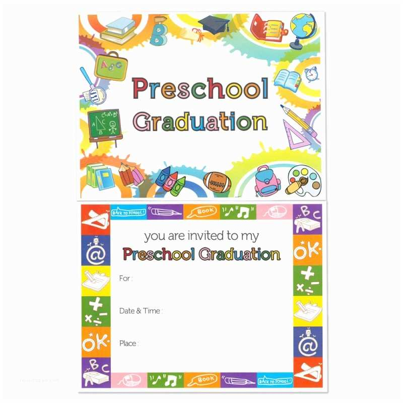 Kindergarten Graduation Invitations Preschool Graduation Announcement
