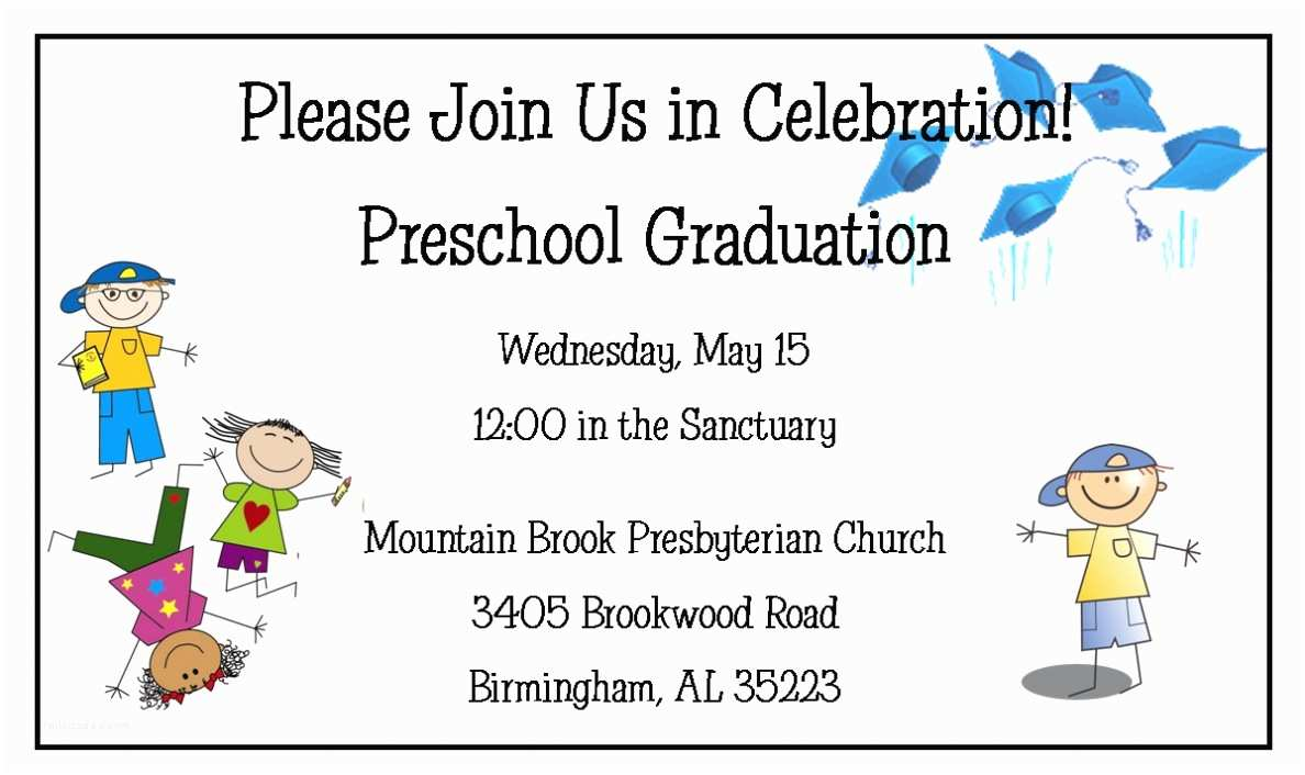 Kindergarten Graduation Invitations Preschool Graduation Invitations Preschool Graduation