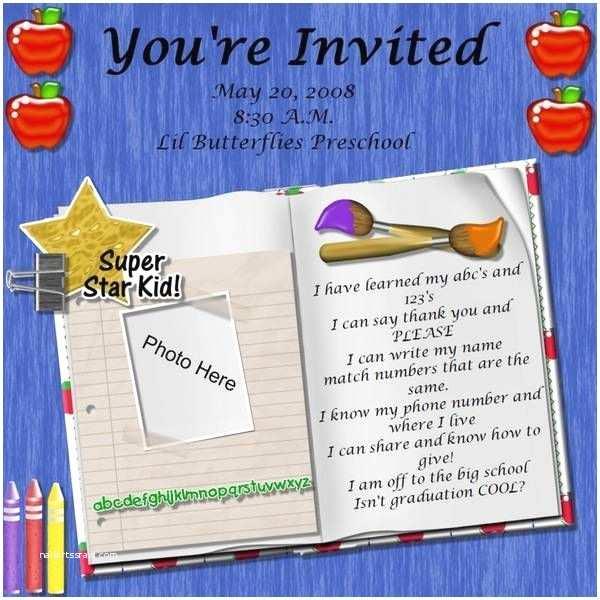 Kindergarten Graduation Invitations Preschool Graduation Poem Ideas Para El Aula
