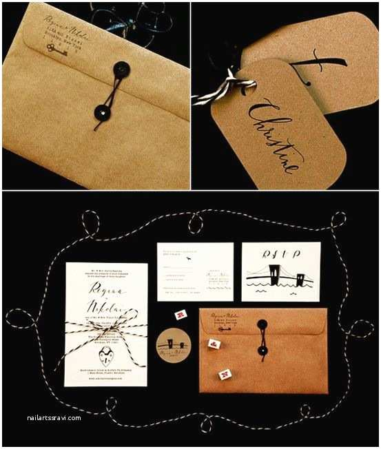 Kraft Paper Wedding Invitation Kit Rustic Wedding Ideas Get Krafty