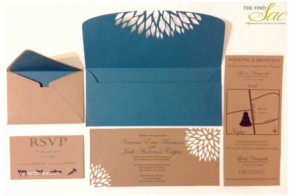 Kraft Paper Wedding Invitation Kit Unxia Kraft Paper Wedding Invitation