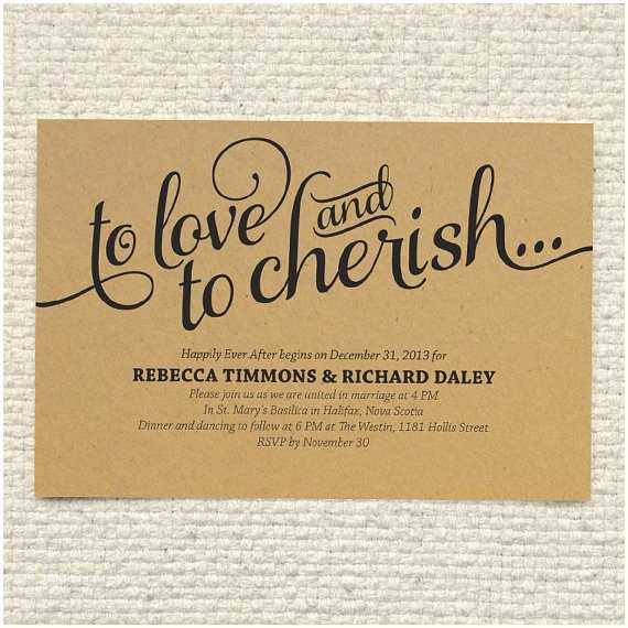 Kraft Paper Wedding Invitations Diy Kraft Paper Wedding Invitation Love & by