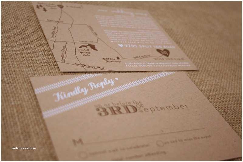 Kraft Paper Wedding Invitations Madeline Josh S Rustic Kraft Paper Tennessee Wedding