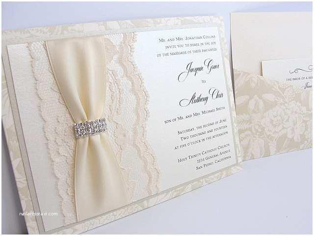 Lace Pattern Wedding Invitations Lace Wedding Invitations Glitter Wedding Invitations