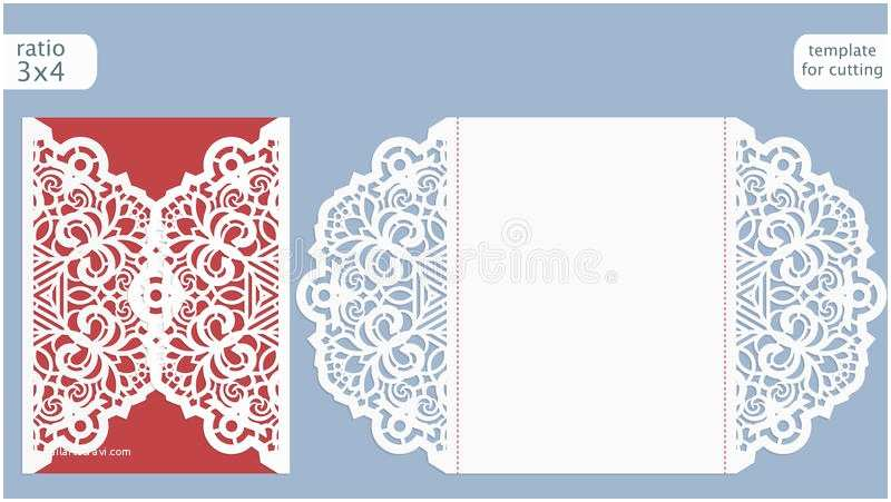 Lace Pattern Wedding Invitations Laser Cut Wedding Invitation Card Template Cut Out the