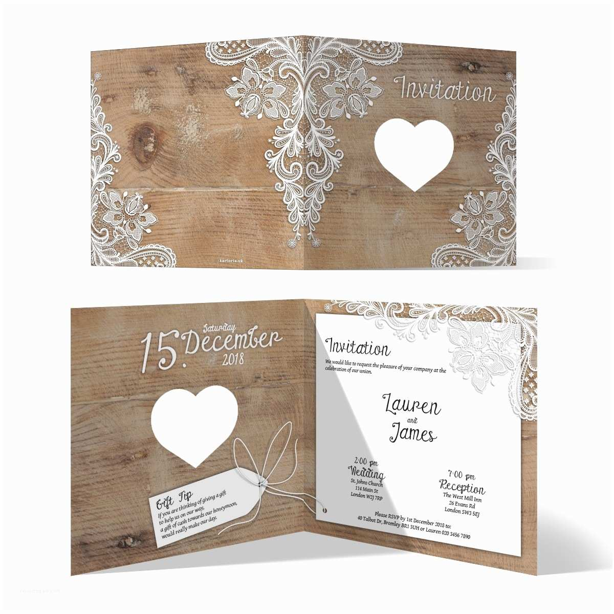 Lace Pattern Wedding Invitations Laser Cut Wedding Invitation Cards Rustic Lace Pattern