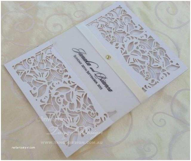 Lace Pattern Wedding Invitations Laser Cut Wedding Invitation X24 Pocket Invitations
