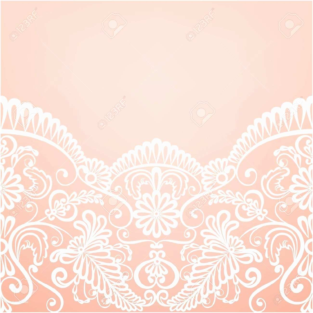Lace Pattern Wedding Invitations Template for Wedding Invitation Greeting Card with