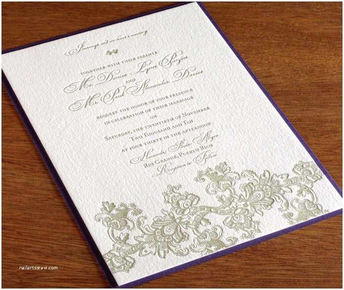 Lace Pattern Wedding Invitations Vintage Wedding Trends for Elegant Brides Lace Letterpress
