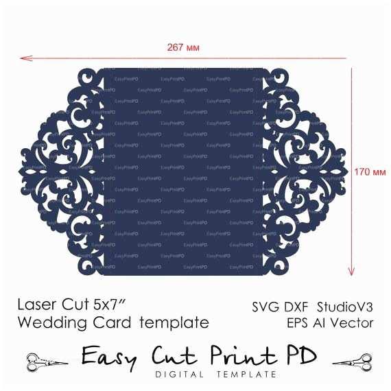 Lace Pattern Wedding Invitations Wedding Invitation Pattern Card Template Lace