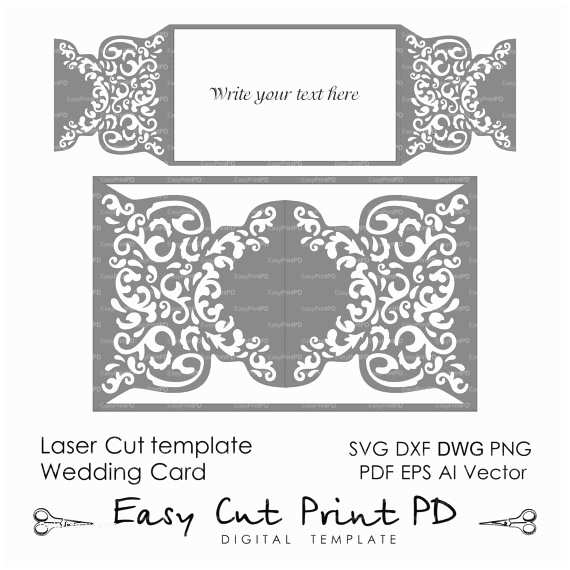 Lace Pattern Wedding Invitations Wedding Invitation Pattern Card Template Shutters Gates