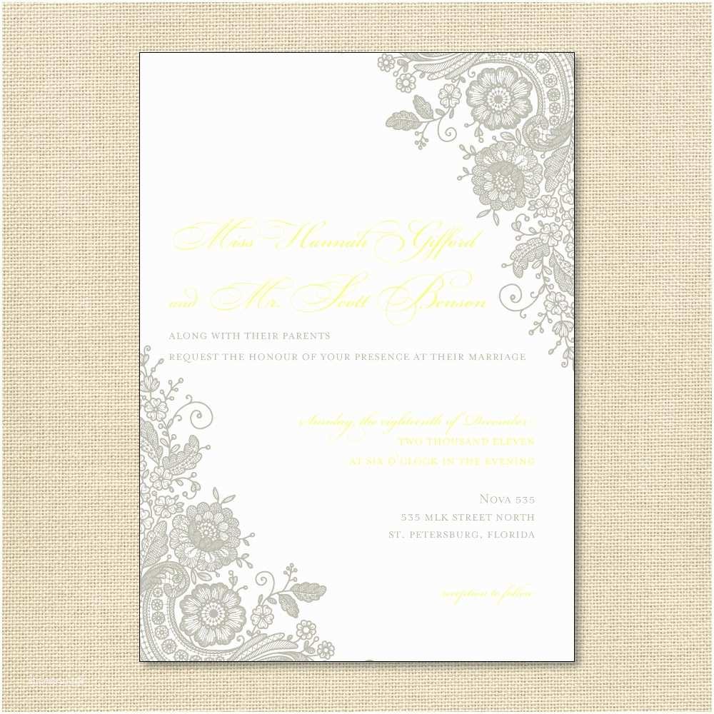 Lace Pattern Wedding Invitations Wedding Invitation Wording Wedding Invitation Templates Lace
