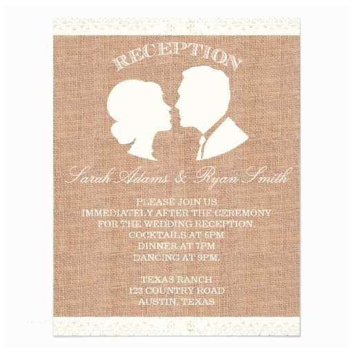 Lace Print Wedding Invitations Burlap & Lace Print Reception Invitation
