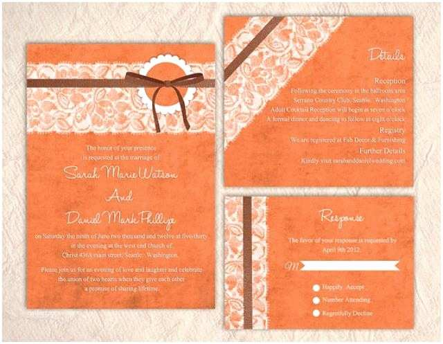 Lace Print Wedding Invitations Printable Lace Wedding Invitation Suite Printable