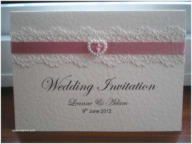 Lace Wedding Invitations Cheap Cheap Lace Wedding Invitations Dusky Pink Pearl Heart