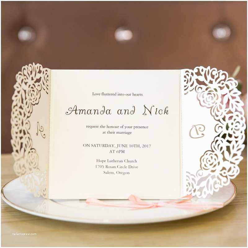 Lace Wedding Invitations Cheap Lace Wedding Invitations at Elegant Wedding Invites