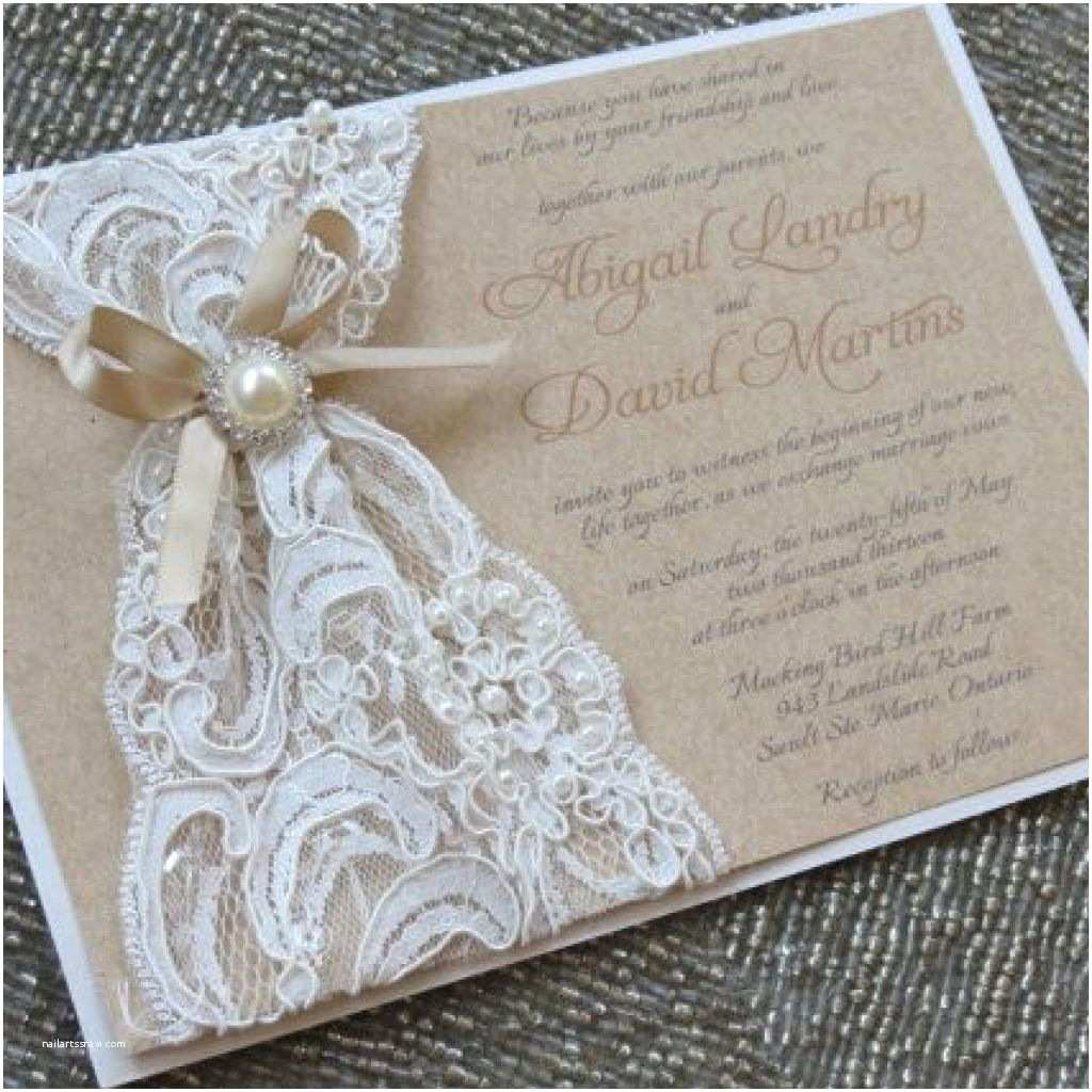 Lace Wedding Invitations Cheap Marvelous Rustic Lace Wedding Invitations