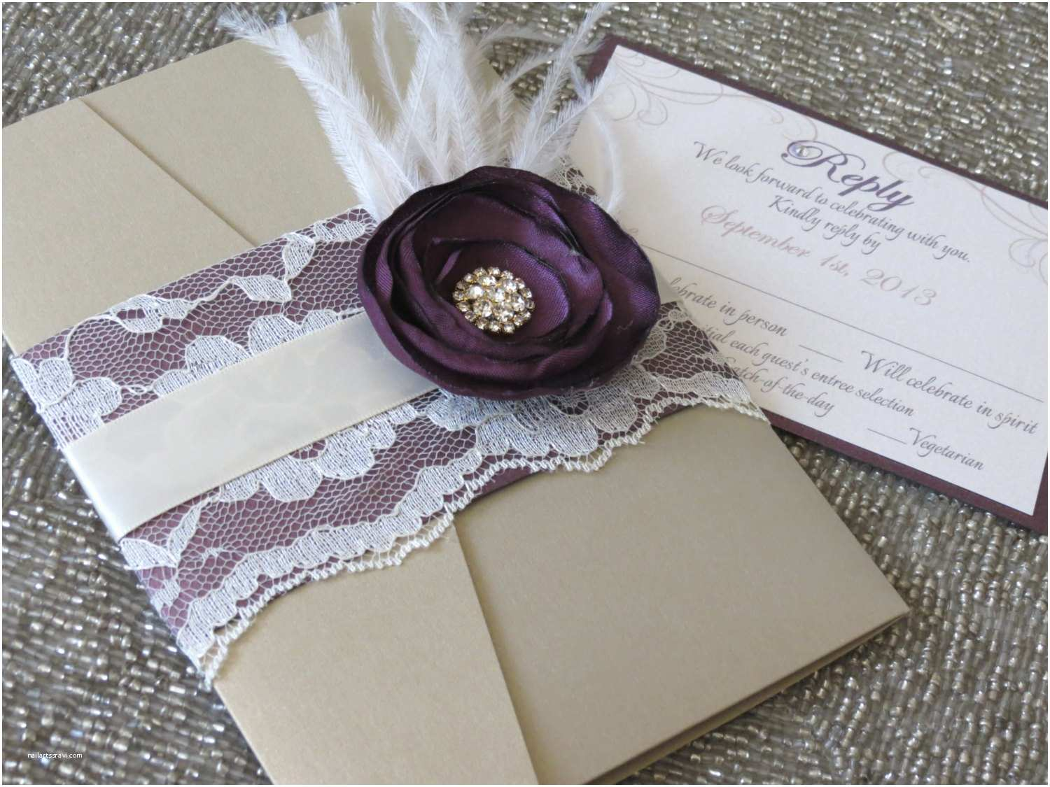Lace Wedding Invitations Cheap Purple Lace Wedding Invitations for Your Romantic Th and