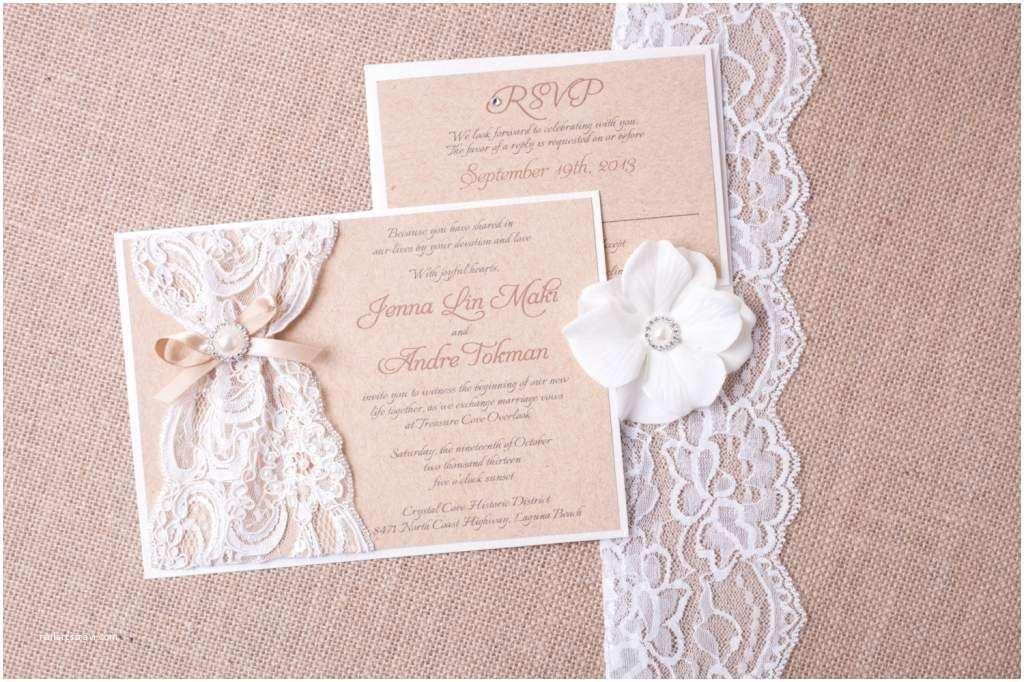 Lace Wedding Invitations Cheap Wedding Invitation Templates and Wording