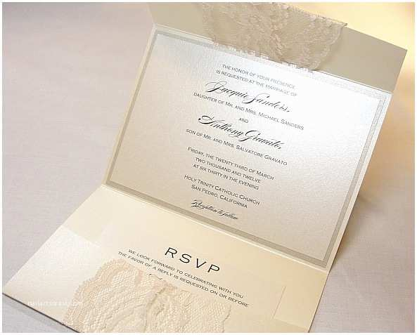 Lace Wedding Invitations Lace Wedding Invitations