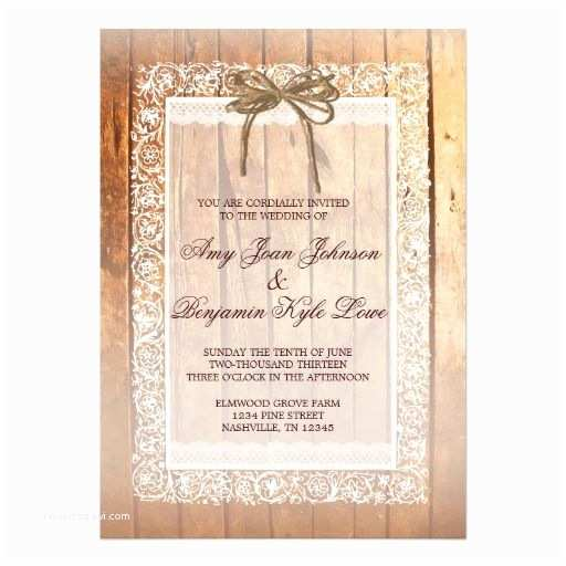 Lace Wood Wedding Invitations Pinterest
