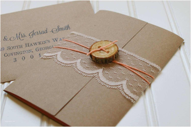 Lace Wood Wedding Invitations Rustic Wood Slice and Lace Wedding Invitations Unique