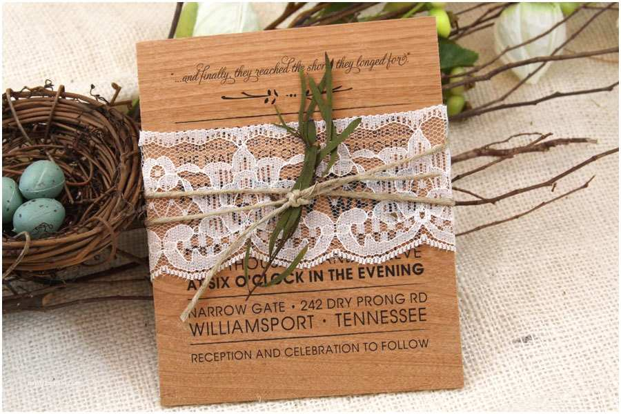 Lace Wood Wedding Invitations Western Wedding Invitations From Country to Cowboy Style