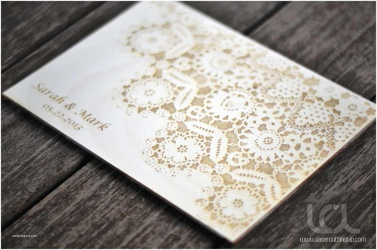 Lace Wood Wedding Invitations Wood Folk Lace Wedding Invitation Laser Cutting Lab Llc