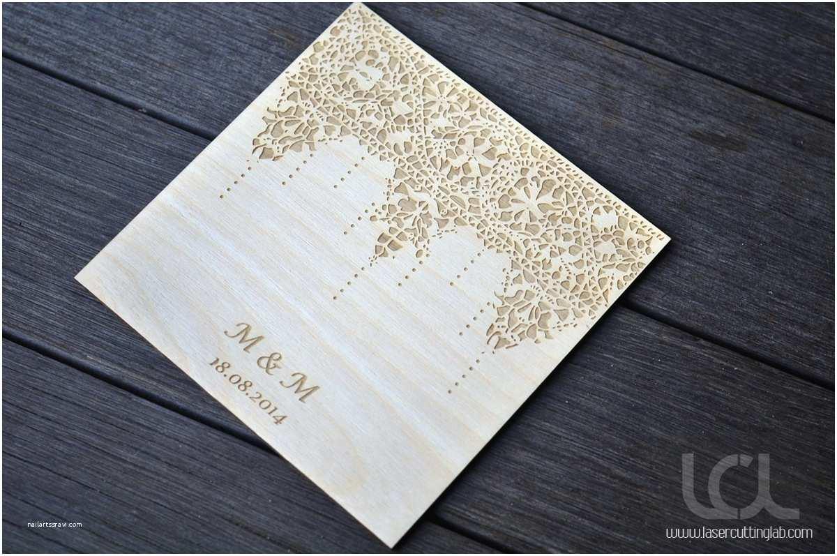 Lace Wood Wedding Invitations Wood Lace Wedding Invitation Laser Cutting Lab Llc