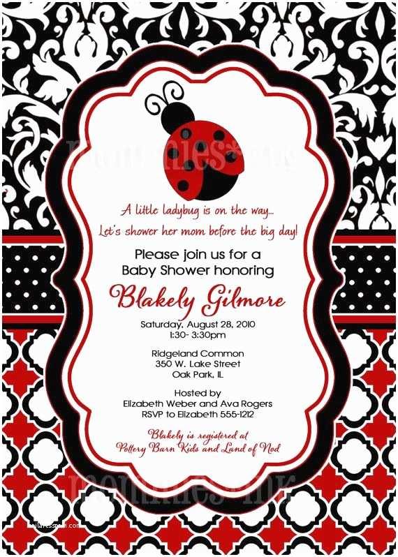Ladybug Baby Shower Invitation Best 25 Ladybug Invitations Ideas On
