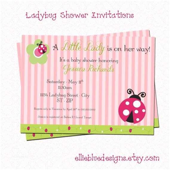 Ladybug Baby Shower  Diy Printable Ladybug Baby Shower
