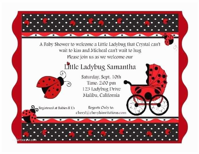 Ladybug Baby Shower  Free Printable Ladybug Baby Shower