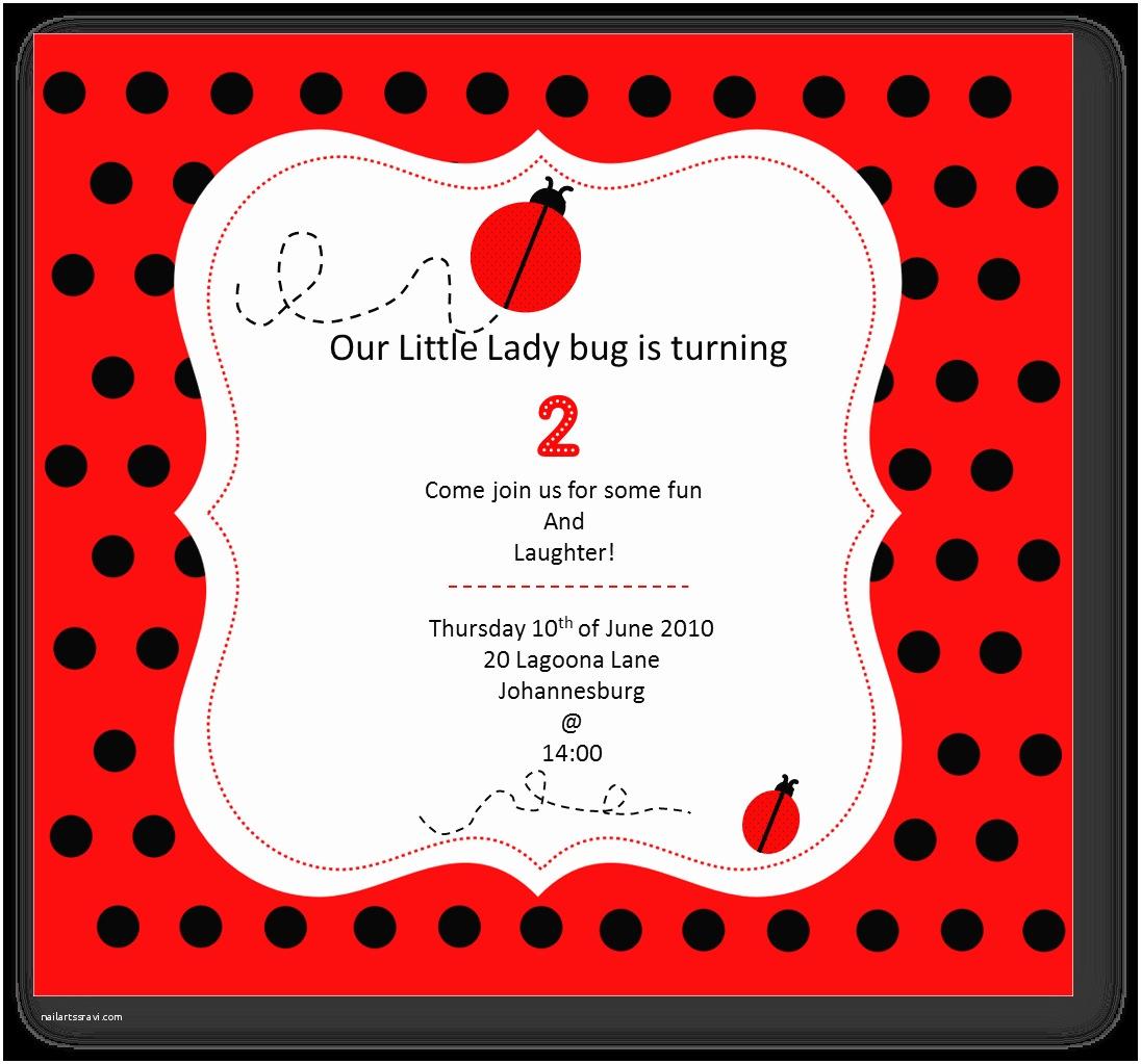 Ladybug Baby Shower Invitation Just Baking Little Lady Bug