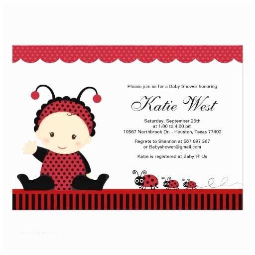 """Ladybug Baby Shower Invitation Lady Bug Baby Shower Invitation 5"""" X 7"""" Invitation"""