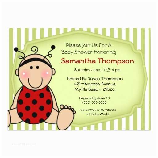 Ladybug Baby Shower Invitation Ladybug Baby Shower Invitation