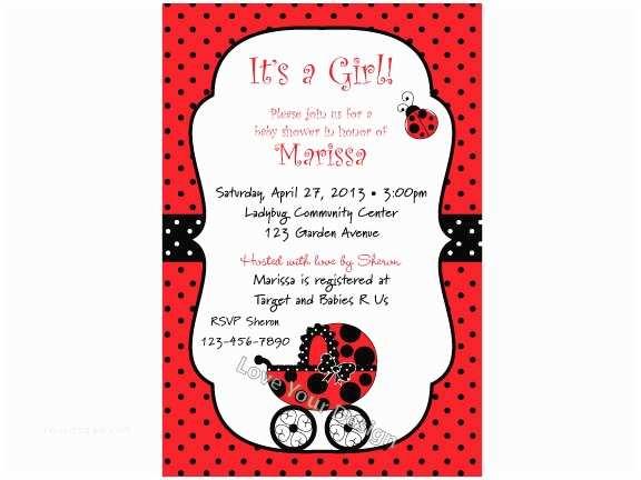 Ladybug Baby Shower Invitation Ladybug Baby Shower Invitation You Print Jpeg File