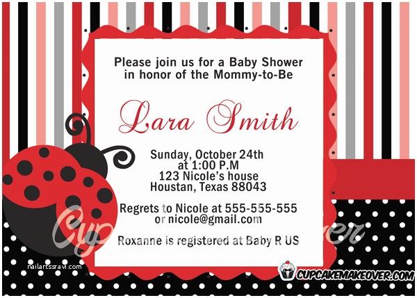 Ladybug Baby Shower Invitation Ladybug Baby Shower Invitations Archives
