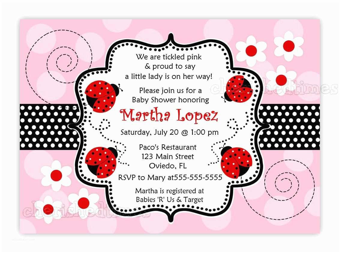 Ladybug Baby Shower Invitation Ladybug Baby Shower