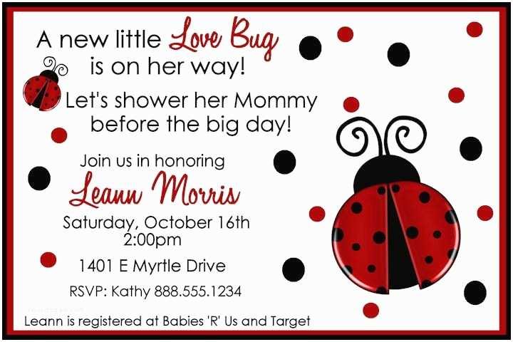 Ladybug Baby Shower Invitation Ladybug Baby Shower Invitations